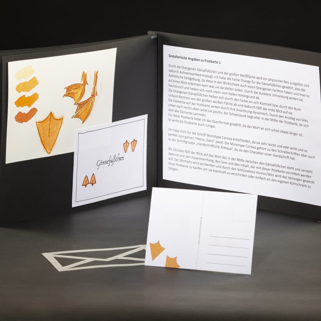 Postkarten zum Thema Typografie